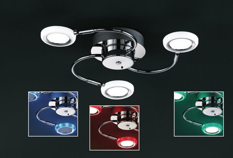 TRIO 624410306 Turner, LED 3x4,2W, 3x400lm, 3000K RGB-W, IP20 TRIO 624410306